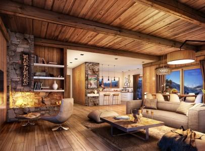 60033TCF73 - Internal Lounge Kitchen Impression